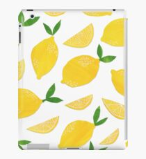 Cut + Paste Lemon Pattern iPad Case/Skin