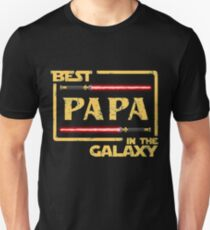Father's Day Gift Best Papa in Galaxy T-Shirt