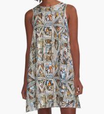 Michaelangelo - Sixtinische Kapellendecke A-Linien Kleid