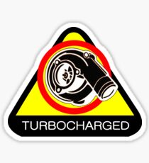 Turbocharged Car Sticker