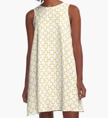 Circle Square Pattern A-Line Dress