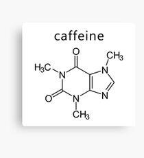 caffeine molecule formula Canvas Print