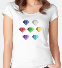Chaos Emeralds Fitted Scoop T-Shirt