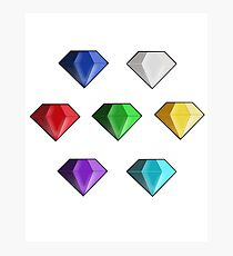 Chaos Emeralds Photographic Print
