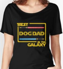 Mens Funny Gift Best Dog-Dad in Galaxy Women's Relaxed Fit T-Shirt