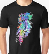 Neon Water Color Jellyfish Unisex T-Shirt