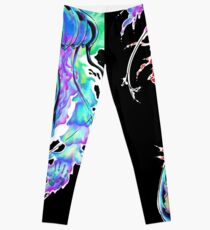 Neon Water Color Jellyfish Leggings