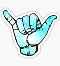 hang loose hand Sticker
