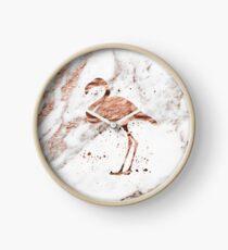 Flamingo - Roségold Marmor Uhr