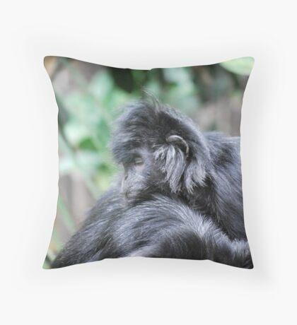 No Monkey Business Throw Pillow