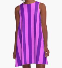 Pink and Purple Striped Dress A-Line Dress