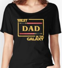 Father's Day Gift Best Dad in Galaxy Women's Relaxed Fit T-Shirt