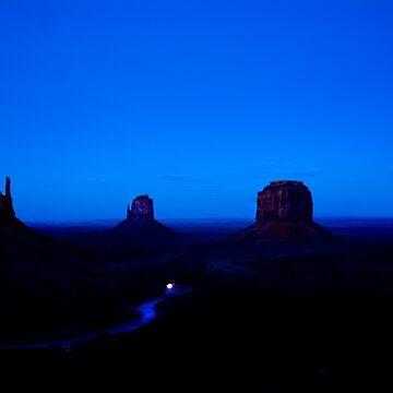 Blue night Twilight Monument Valley by branhamphoto