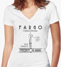 Vintage Minsky 3 Women's Fitted V-Neck T-Shirt
