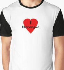 Dance - I Love Merengue T-Shirt & Top Graphic T-Shirt