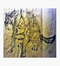 Werewolf Sketch Photographic Print