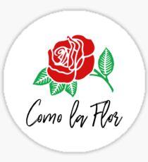 """Como la Flor"" Selena Quintanilla Sticker"