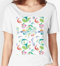 Justice white Women's Relaxed Fit T-Shirt