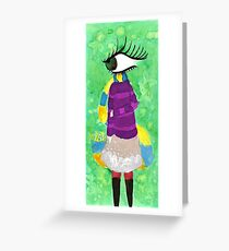 Aventurine In The Teal District Greeting Card