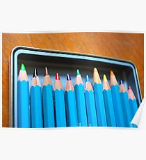 Pencil crayons Poster