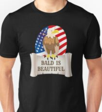 Bald is Beautiful Patriotic Eagle July 4th Holiday T-Shirt T-Shirt