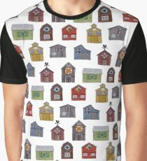 Barn Quilt Pattern white Graphic T-Shirt