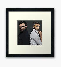 Jemaine and Taika Framed Print