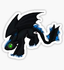 Glowing Night Fury Stickers and Pillows Sticker