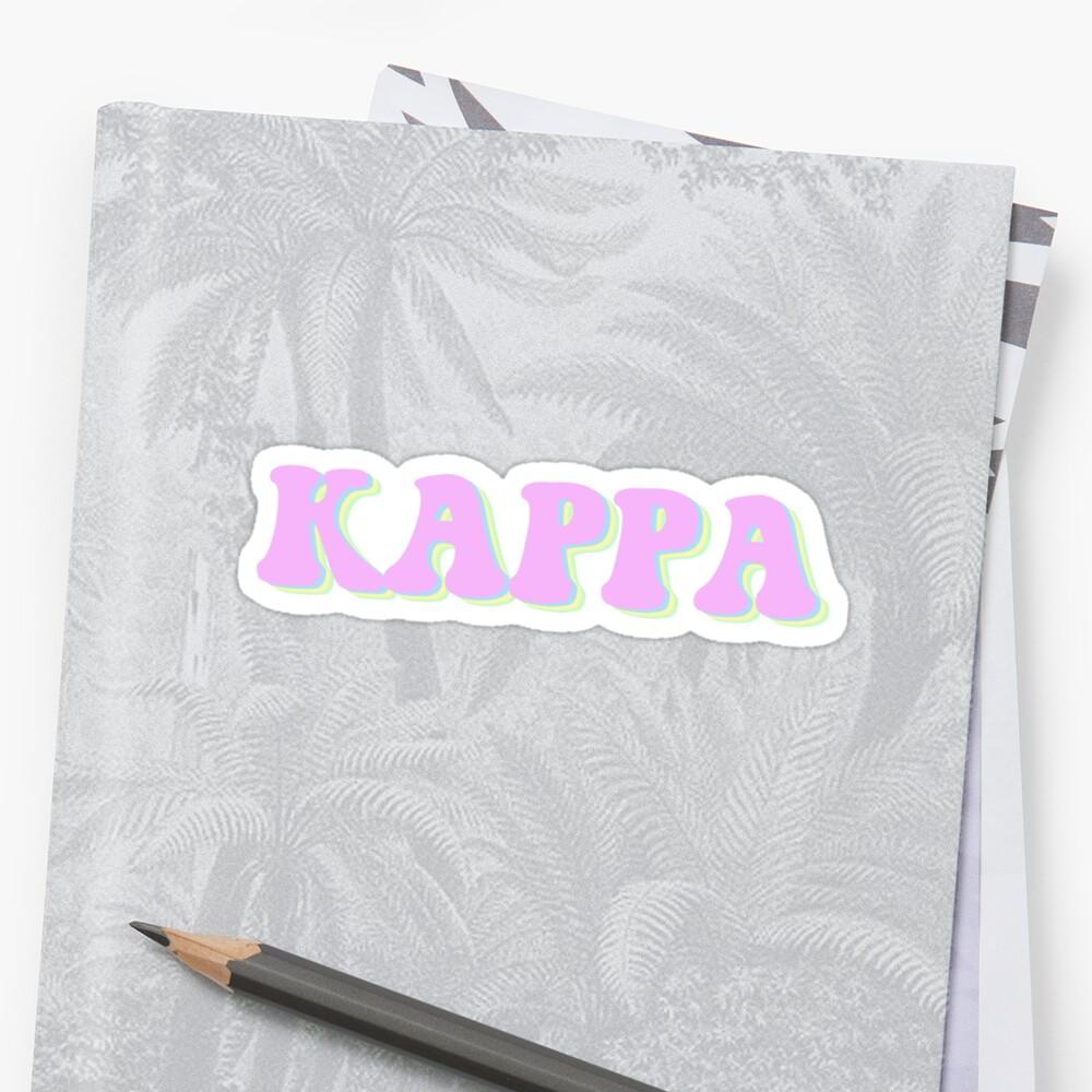 Groovy Kappa Sticker Sticker