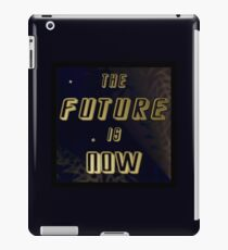 The Future is Now - Gold in Space w/Solar Wind iPad Case/Skin