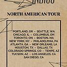 Escaping Indigo Arrow Tour Poster by Eli Lang