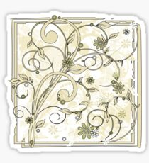 grunge flowers Sticker