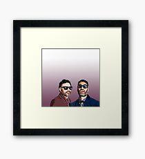 Jemaine and Taika 2 Framed Print