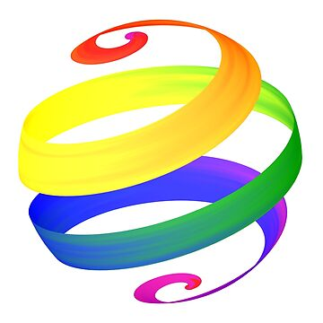 Rainbow Pride Spiral Ball Single by Lozmosis