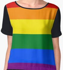Gay Pride Flag / Rainbow Women's Chiffon Top