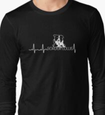 Heartbeat Border Collie - Funny Shirt For Dog Lover Long Sleeve T-Shirt