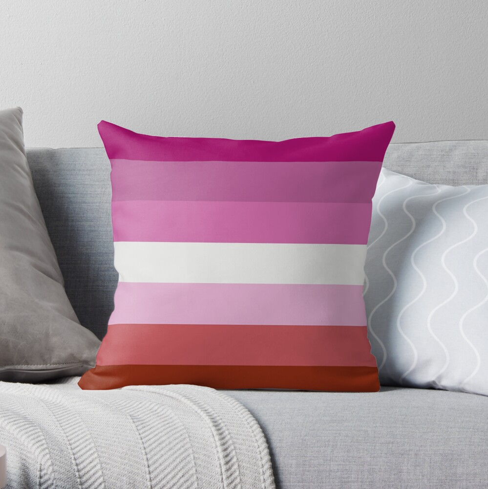 Lesbische Stolz-Flagge Dekokissen