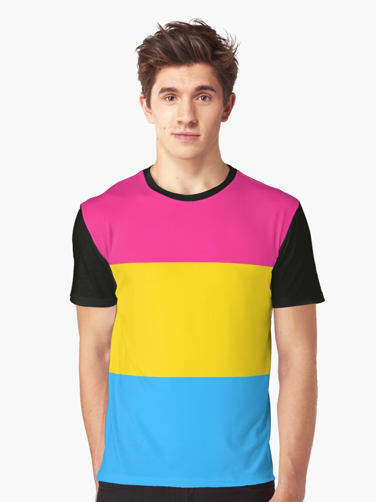 Pansexual Pride Flag Graphic T-Shirt Front