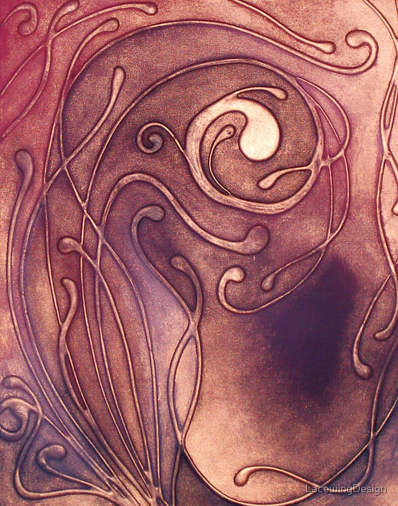 BOTANICAL ABSTRACT NOUVEAU COLLECTION ~ RISING STORM by LacewingDesign