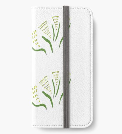 Green & Gold Bouquet iPhone Wallet