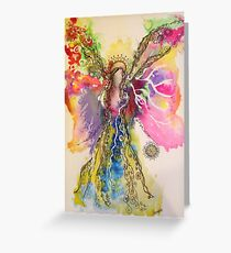 Butterfly Wings Angel Greeting Card