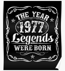 The Year Legends Were Born 1977 Poster