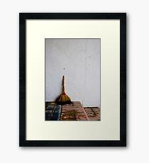 Broom Framed Print