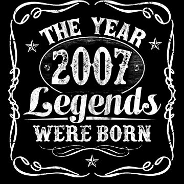 The Year Legends Were Born 2007 by Irregulariteez