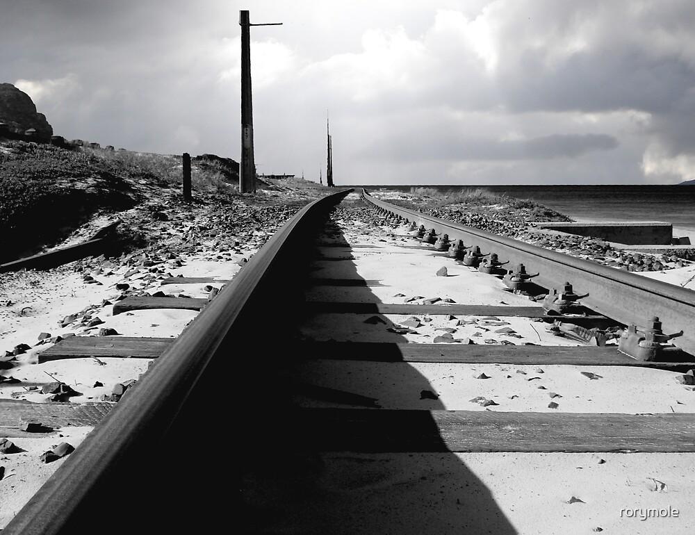 light on a railtrack by rorymole
