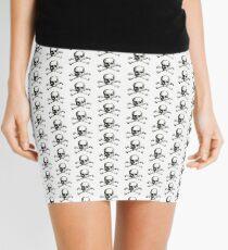 Skull and Crossbones | Black and White Mini Skirt