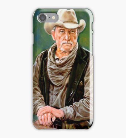 portrait of an old cowboy iPhone Case/Skin