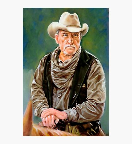 portrait of an old cowboy Photographic Print