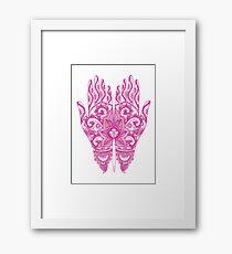 Mehndi Tattoo Hands | Hot Pink Framed Print