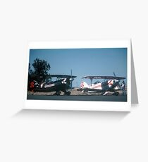 IN PLANE BLACK & WHITE Greeting Card
